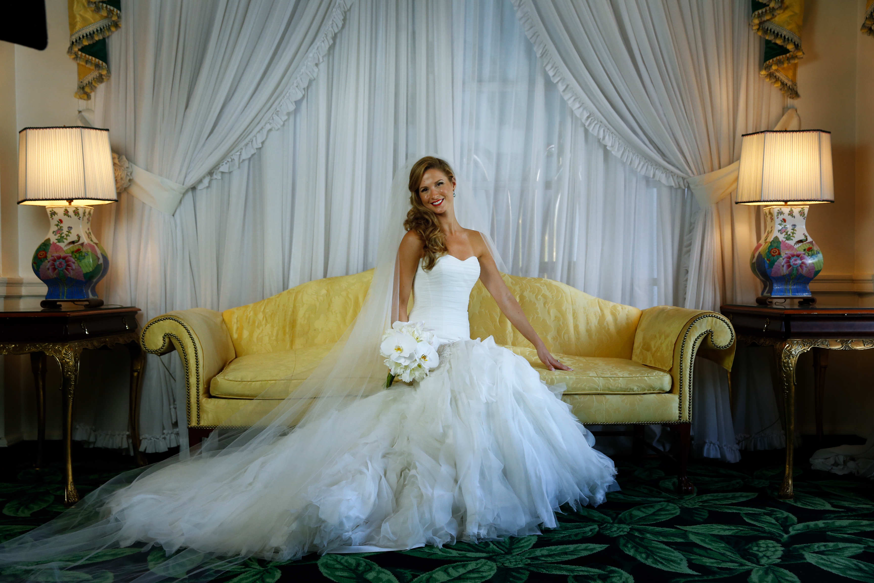 Looking fantastic for her bridal portraits at The Greenbrier