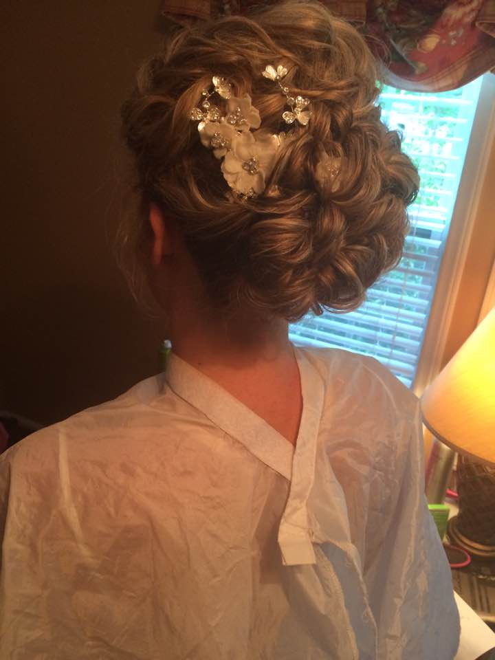 An up do by Ashley on one of our brides.