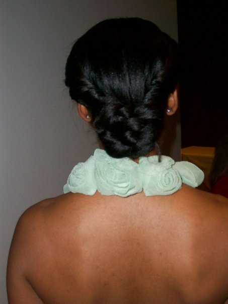 This model was one of the girls we did hair for last year at the Artful Wedding!