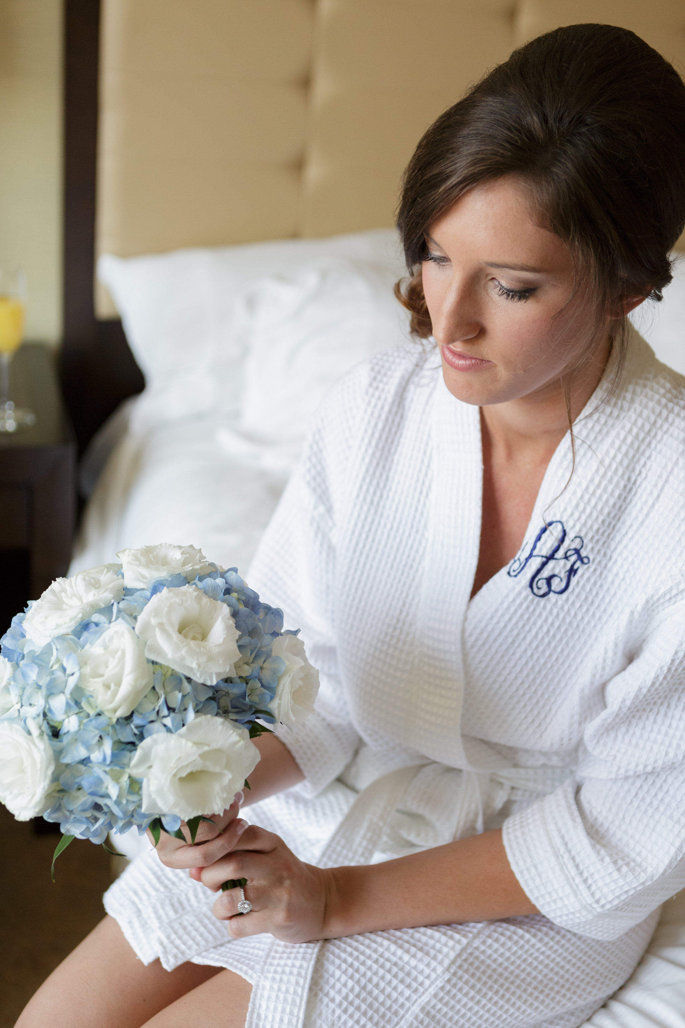 So beautiful! We also love this cute blue bouquet