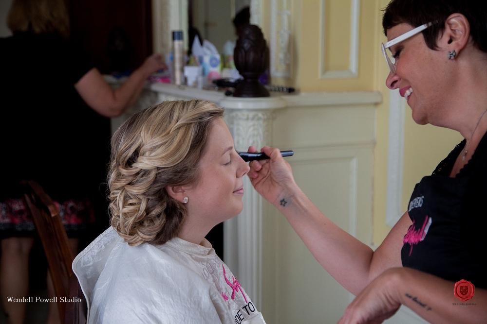 Lou doing Pamela's makeup