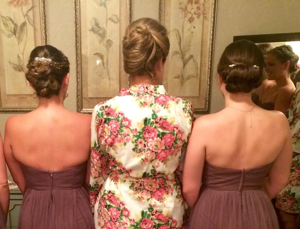 All of the hairstyles turned out perfect on the bridesmaids!