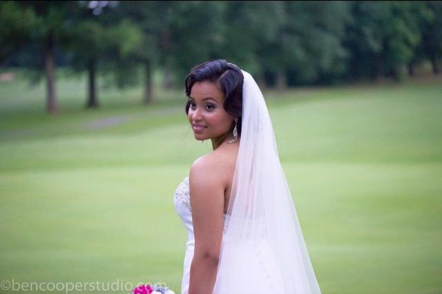 The bride herself!