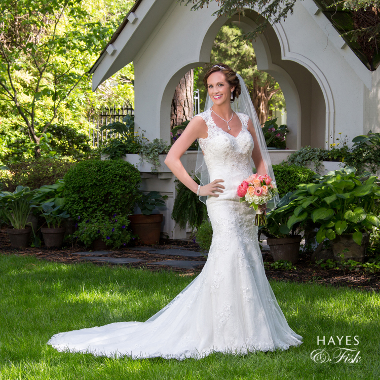 Melissa's sweet session in the Hayes and Fisk gardens is the perfect backdrop for her bridal portraits!