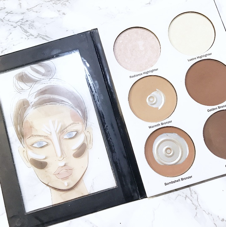 Contour palettes like this that come with a diagram make it easy for even the newest of artists