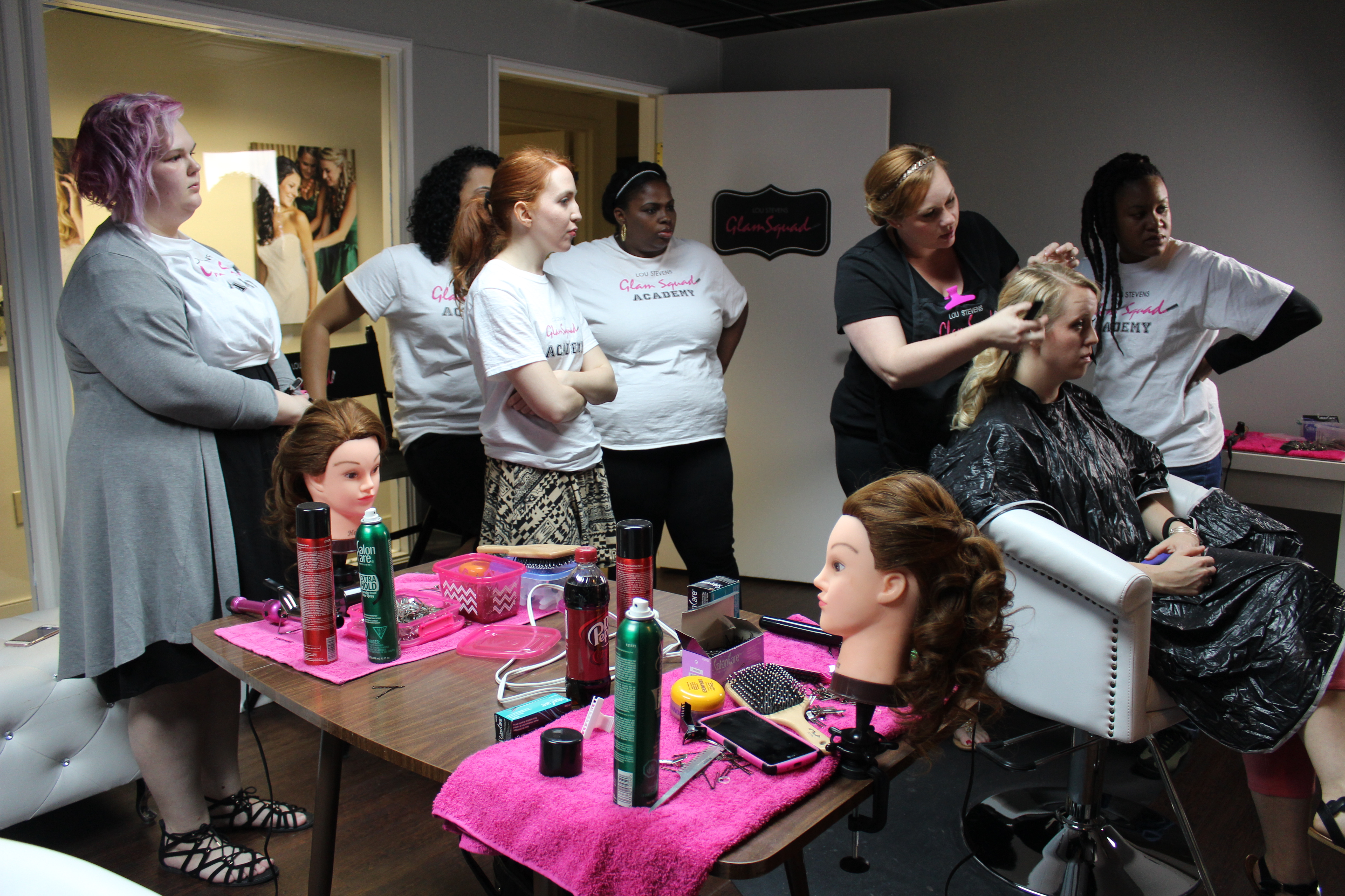 The girls attend a hair session taught by Amanda