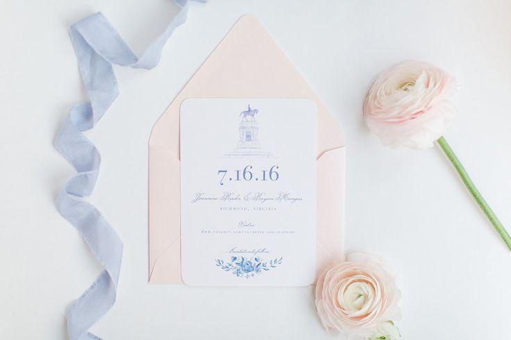 Loving the simplicity of this wedding invitation